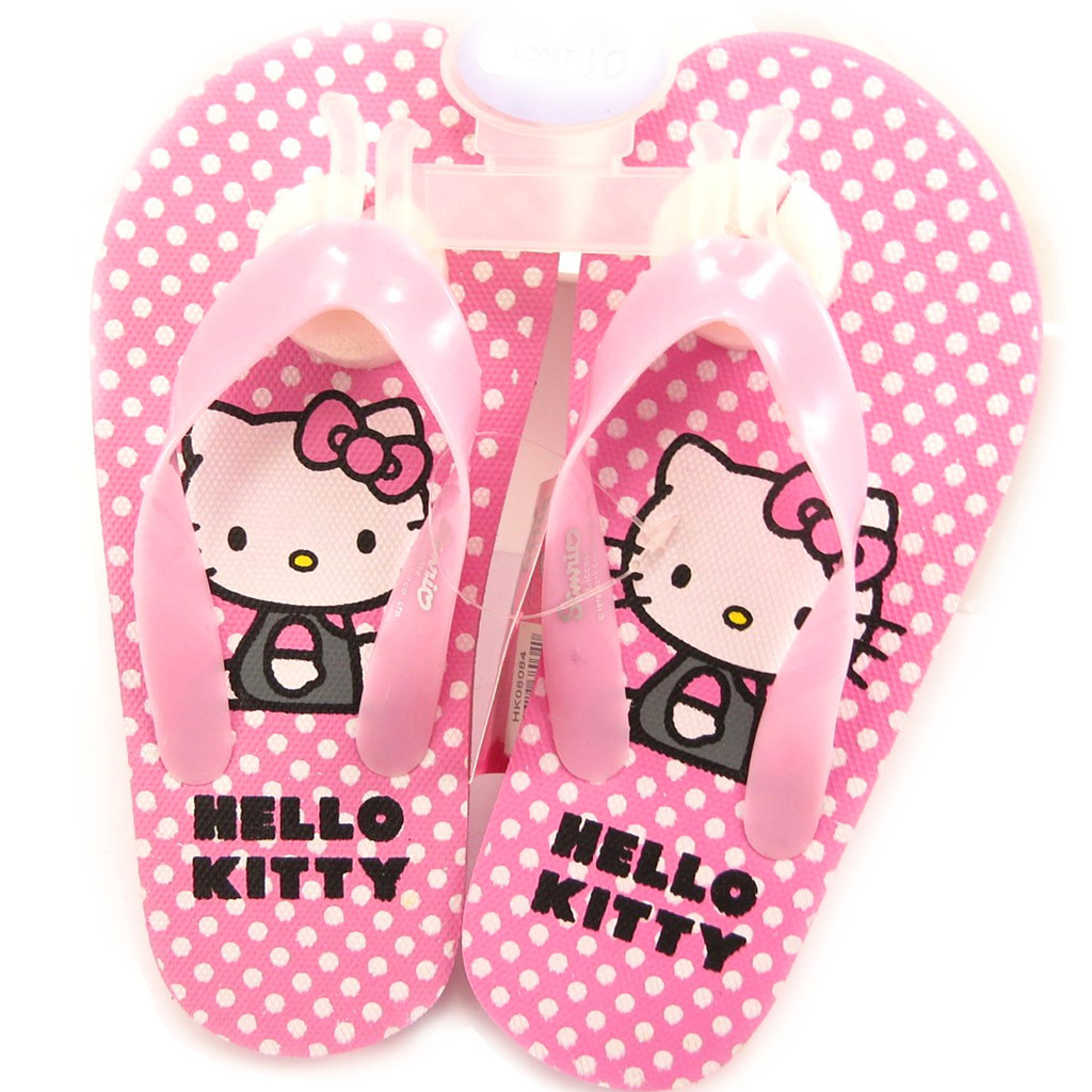 Tongs \'Hello Kitty\' rose  - [L2087]