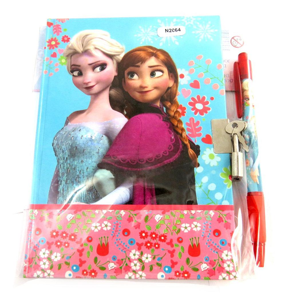 Set journal Intime \'Frozen - Reine des Neiges\' bleu (+ stylo assorti) - [N2064]
