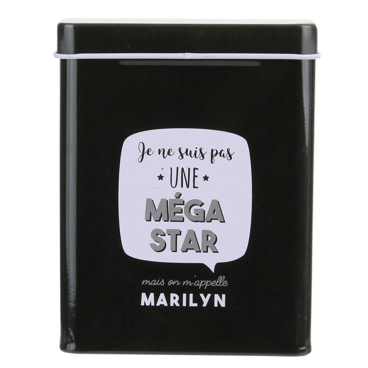 Etui métal à paquet de cigarettes \'Messages\' noir (Je ne suis pas une méga star ) - 24 cigarettes - [Q1673]