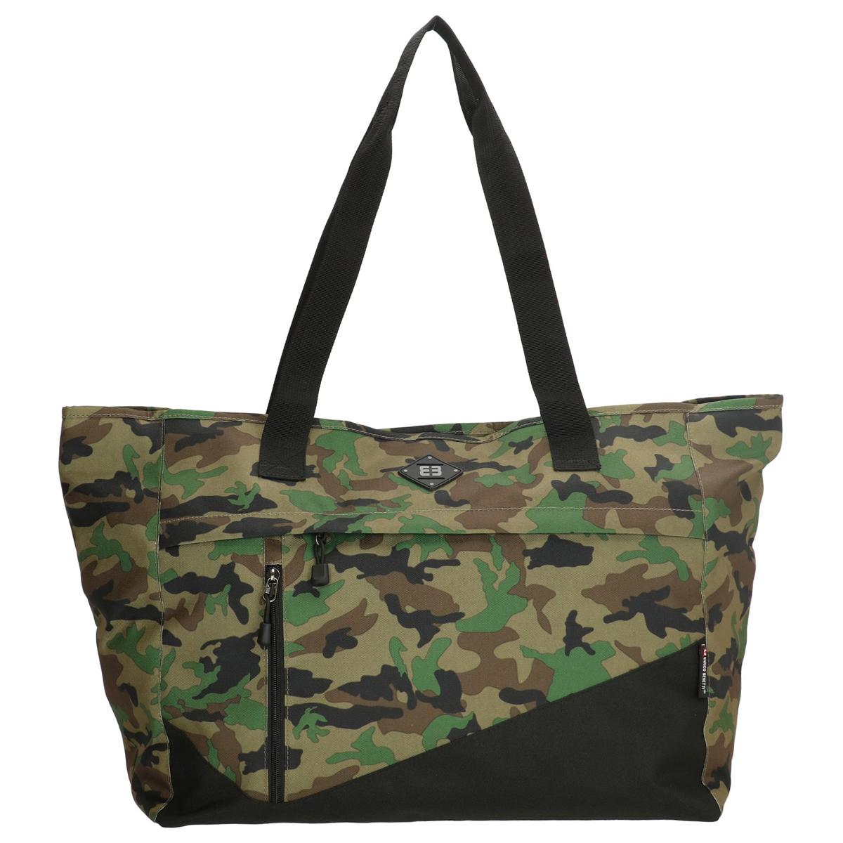 Sac cabas \'Enrico Benetti\' vert camouflage - 45x36x18 cm - [Q1741]