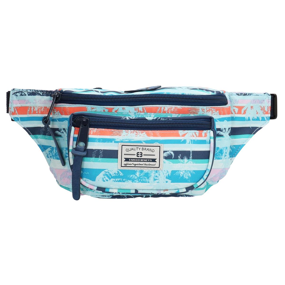 Pochette ceinture / banane \'Enrico Benetti\' bleu tropical - 32x12x65 cm - [Q1755]