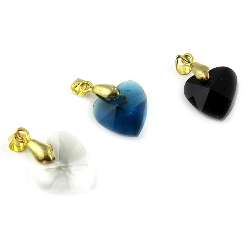 3 pendentifs \'Love\' blanc bleu noir - [L2301]