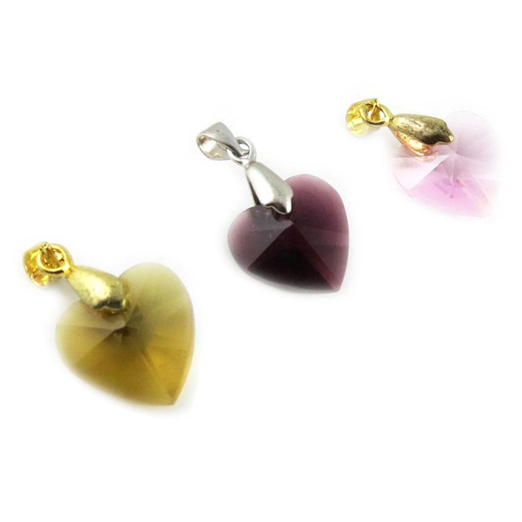 3 pendentifs \'Love\' ambre violet rose - [L2302]
