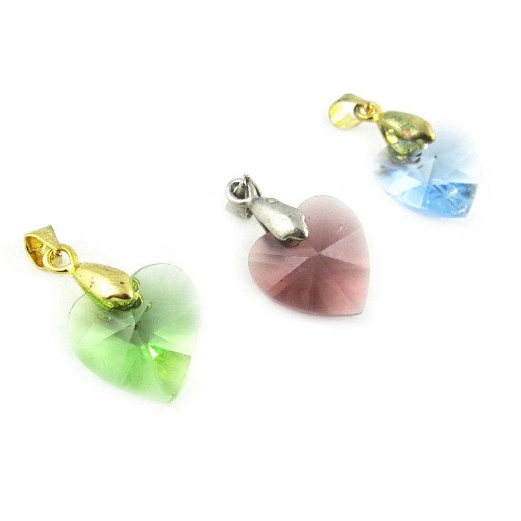 3 pendentifs \'Love\' vert taupe bleu - [L2303]