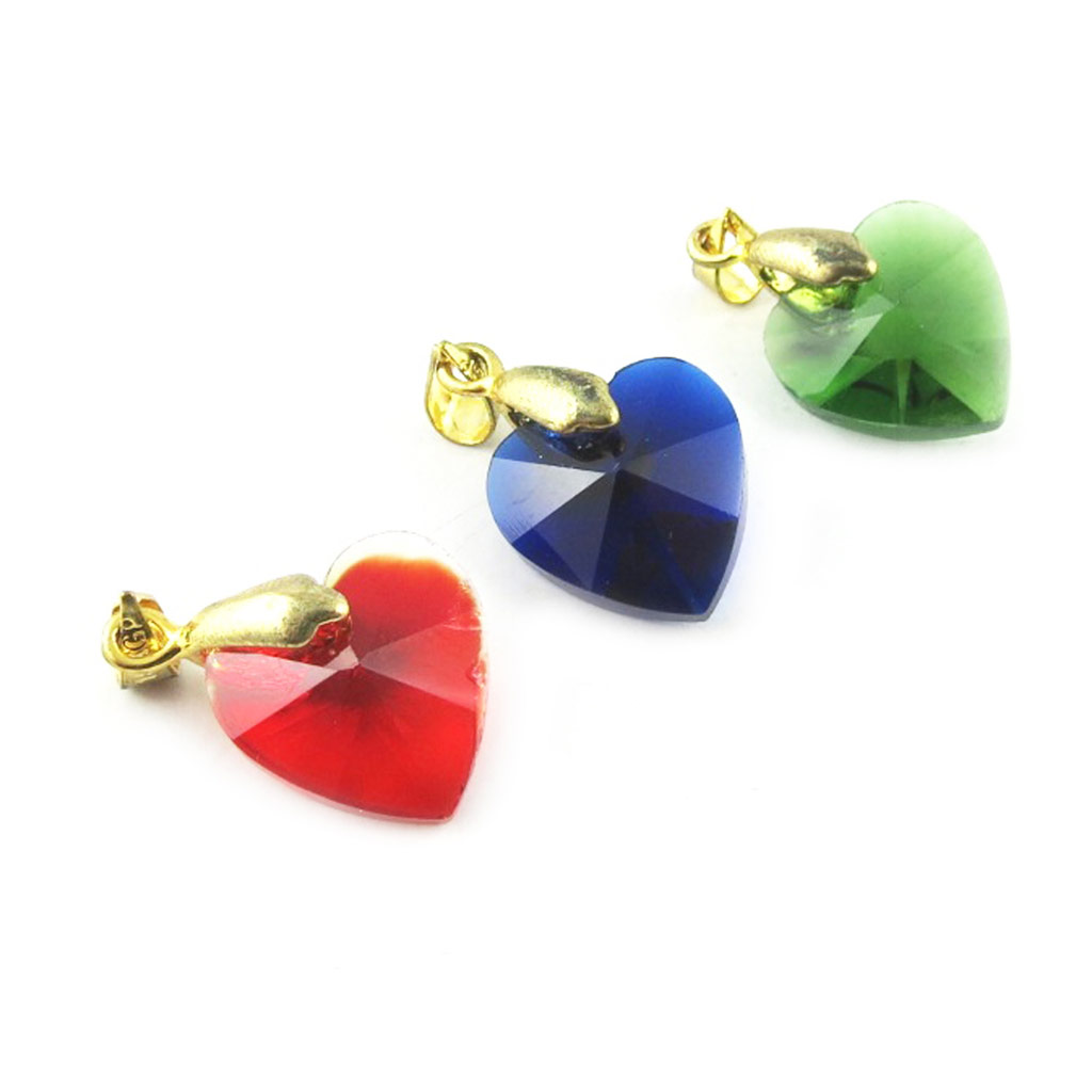 3 pendentifs \'Love\' rouge bleu vert - [L2305]