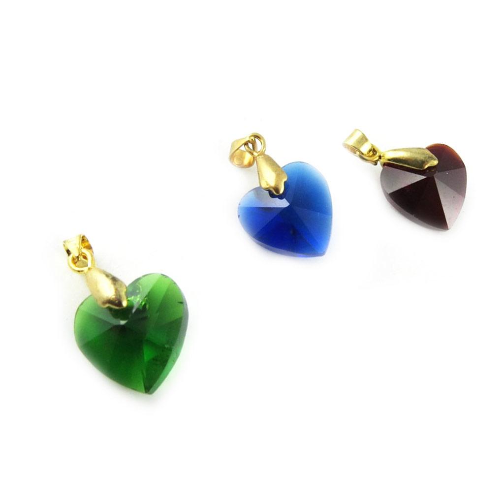 3 pendentifs \'Love\' vert bleu rouge - [L2306]