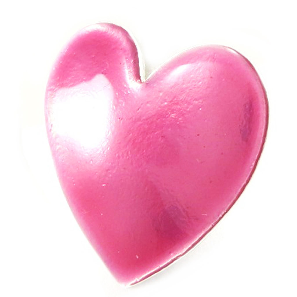 Bague Créateur \'Love\' rose paillettes - [L2346]