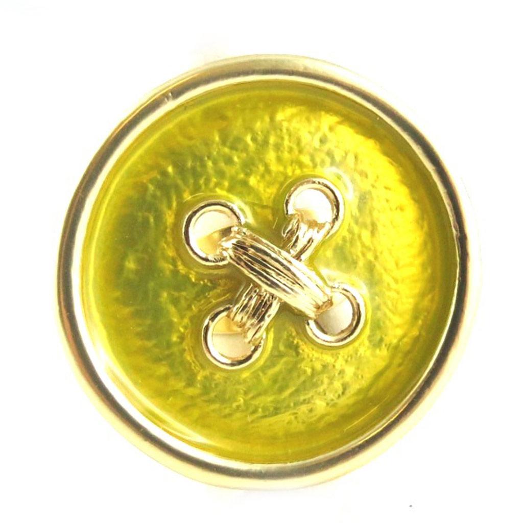 Bague Créateur \'Coloriage\' vert doré - [L2365]