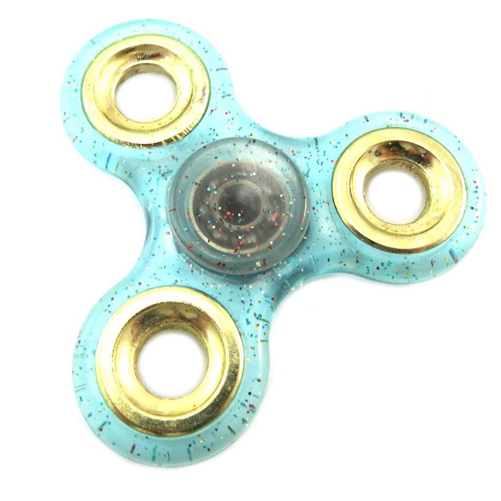 Handspinner \'Les Paillettes\' turquoise - 7 cm - [P1817]
