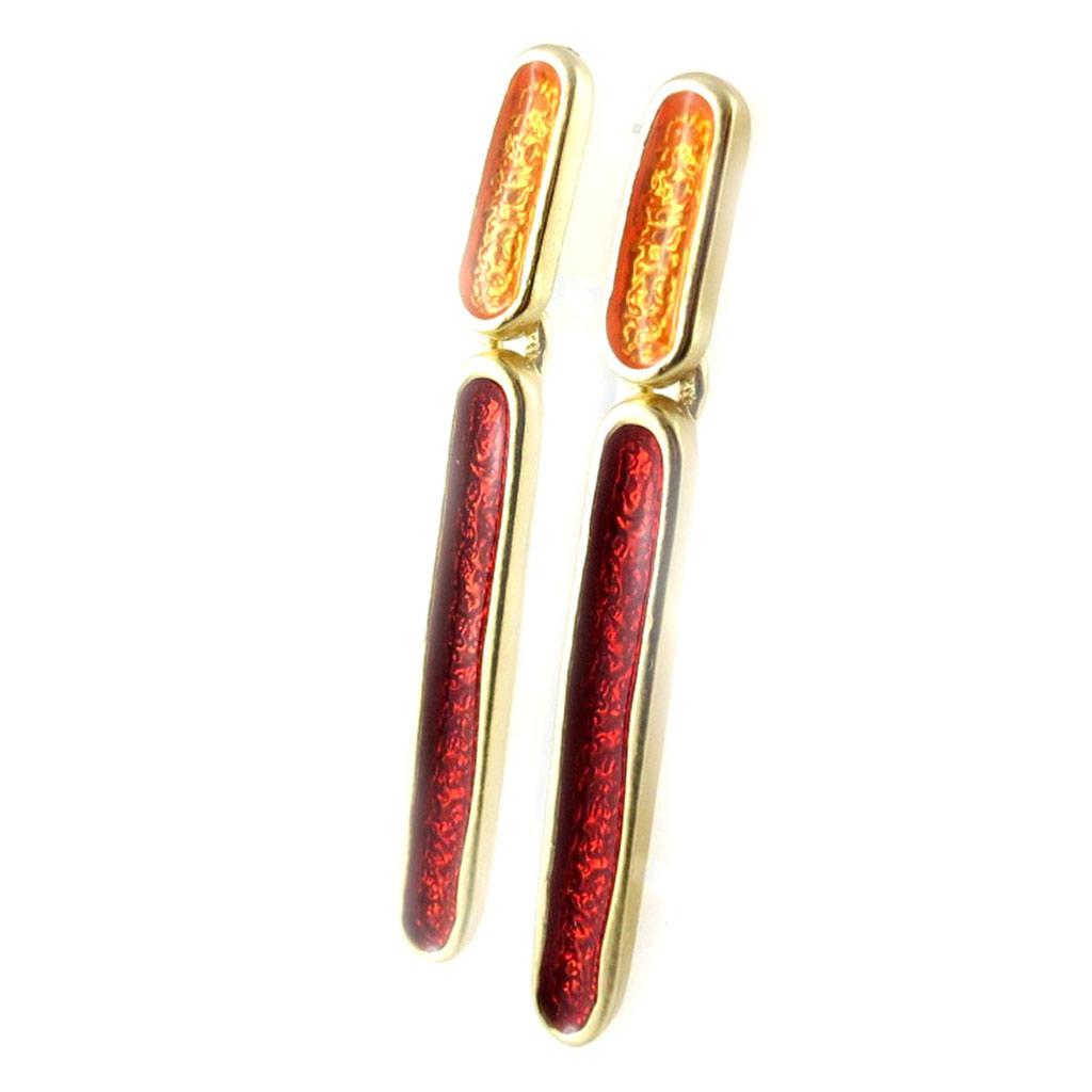 Boucles Créateur \'Coloriage\' orange rouge - [L2385]