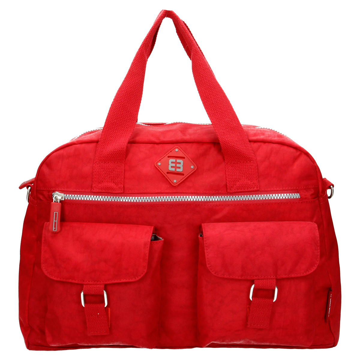 Sac cabas multipoches \'Enrico Benetti\' rouge - 40x27x15 cm - [Q1783]