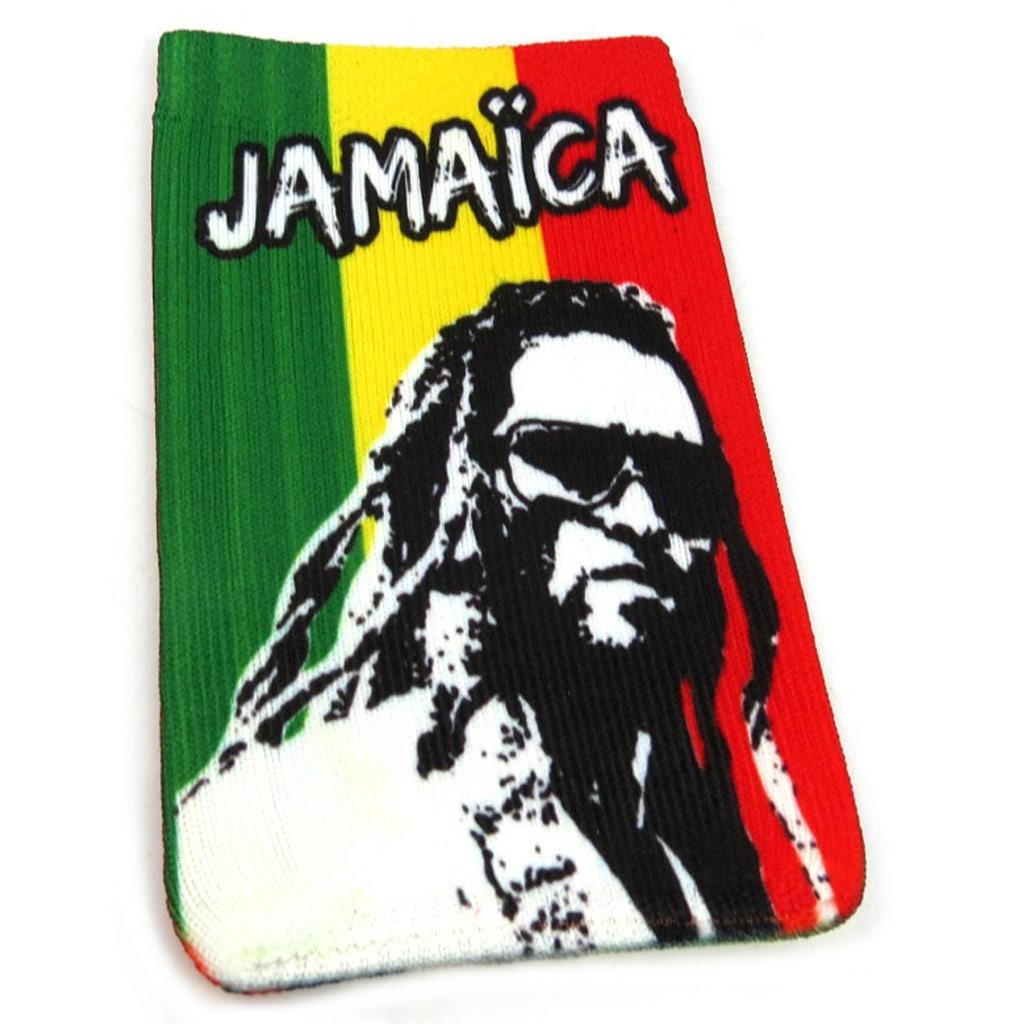 Chaussette Portable \'Jamaica\' rasta - [L2459]