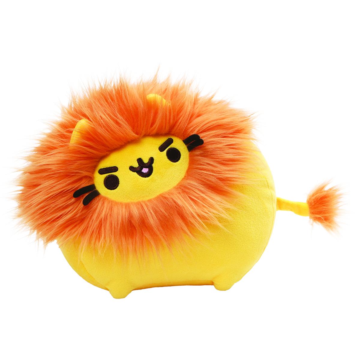 Peluche créateur \'Pusheen\' (lion) orange - 22 cm - [Q1859]