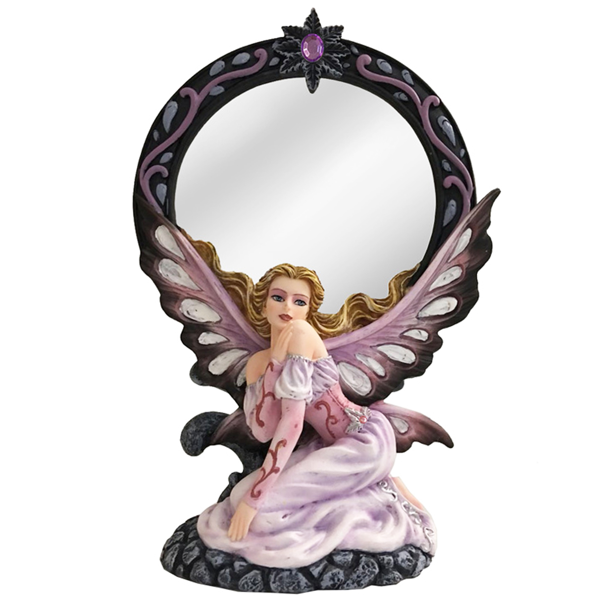 Miroir \'Fairy Dreams\' noir rose - 26x175x85 cm - [Q1883]