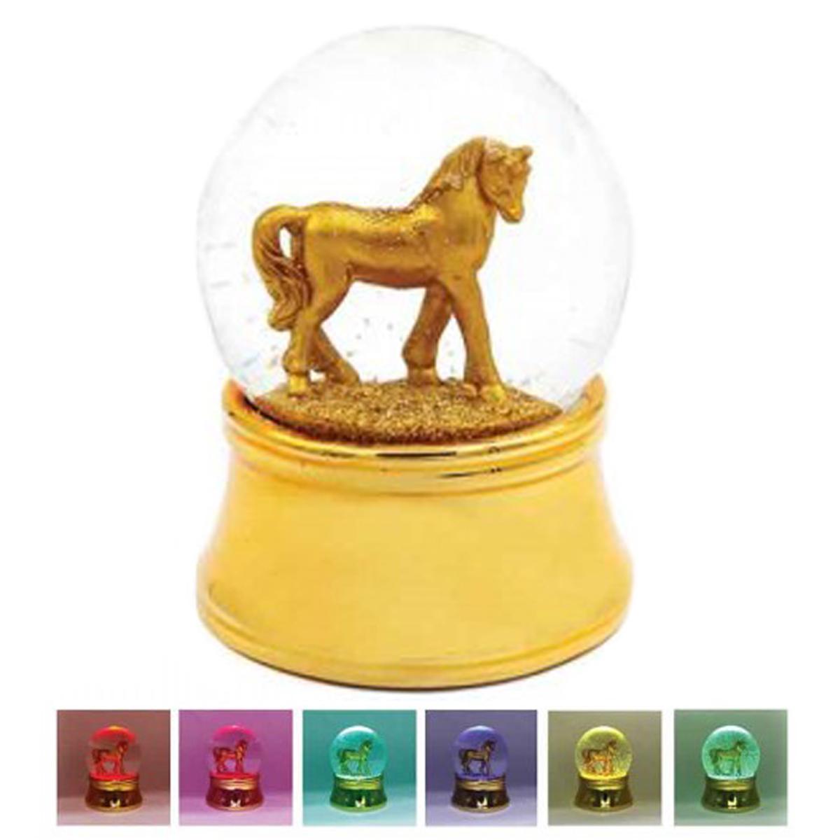 Boule à eau led \'Licorne My Unicorn\' doré - 85x65 mm - [Q1889]