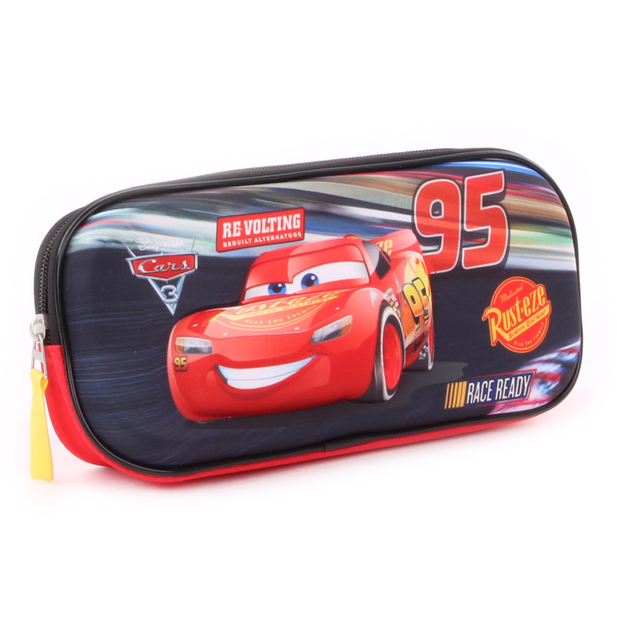 Trousse 3D \'Cars\' noir rouge - 24x10x5 cm - [Q1930]