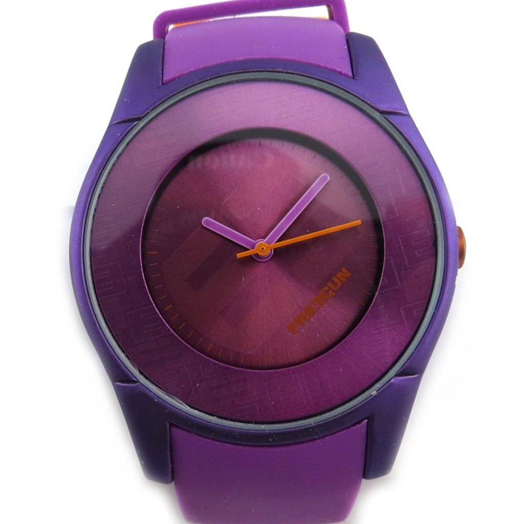 Montre créateur \'Freegun\' violet (ultra plat) - [N2404]