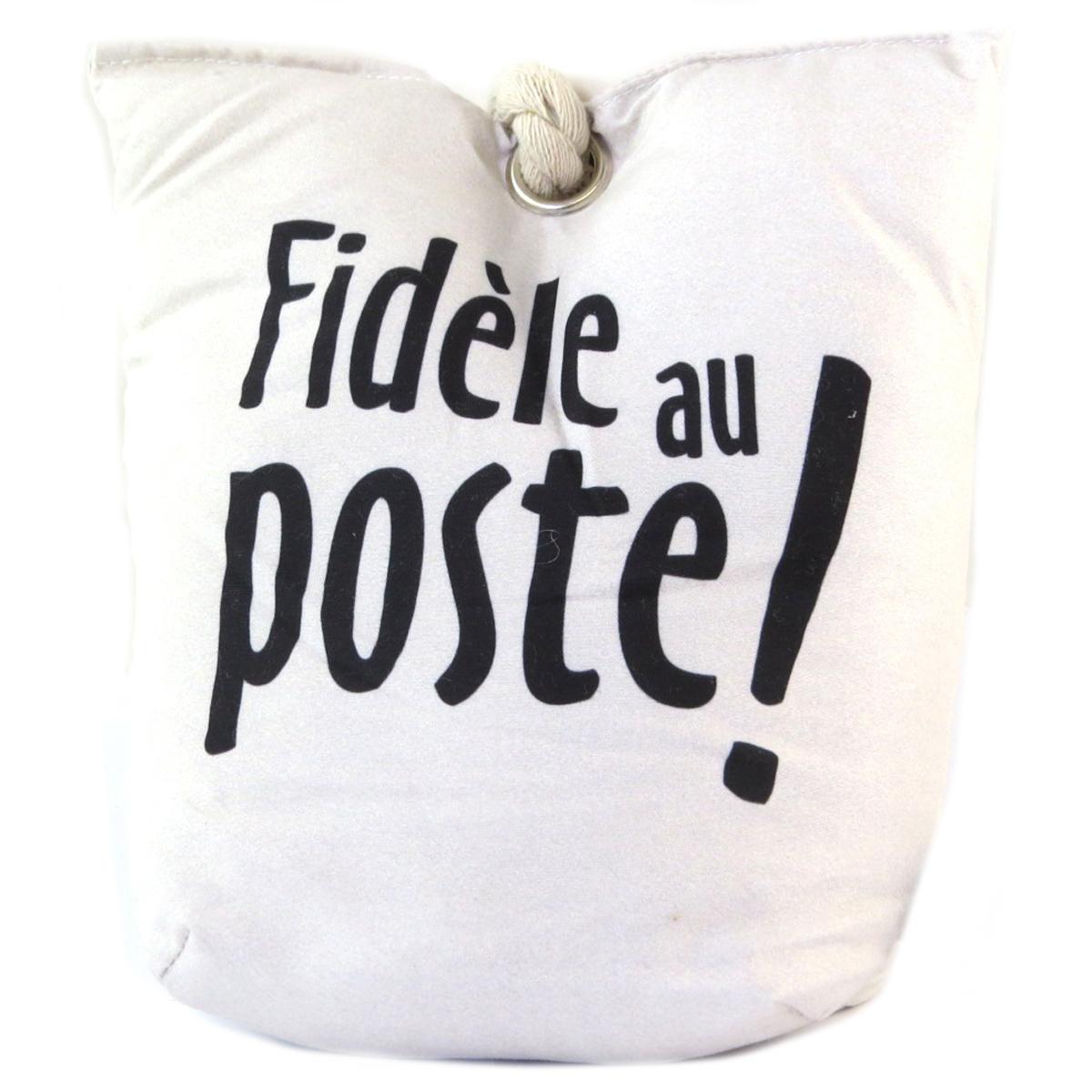 Cale porte \'Messages\' beige (Fidèle au poste !) -19x15x5 cm - [Q1965]