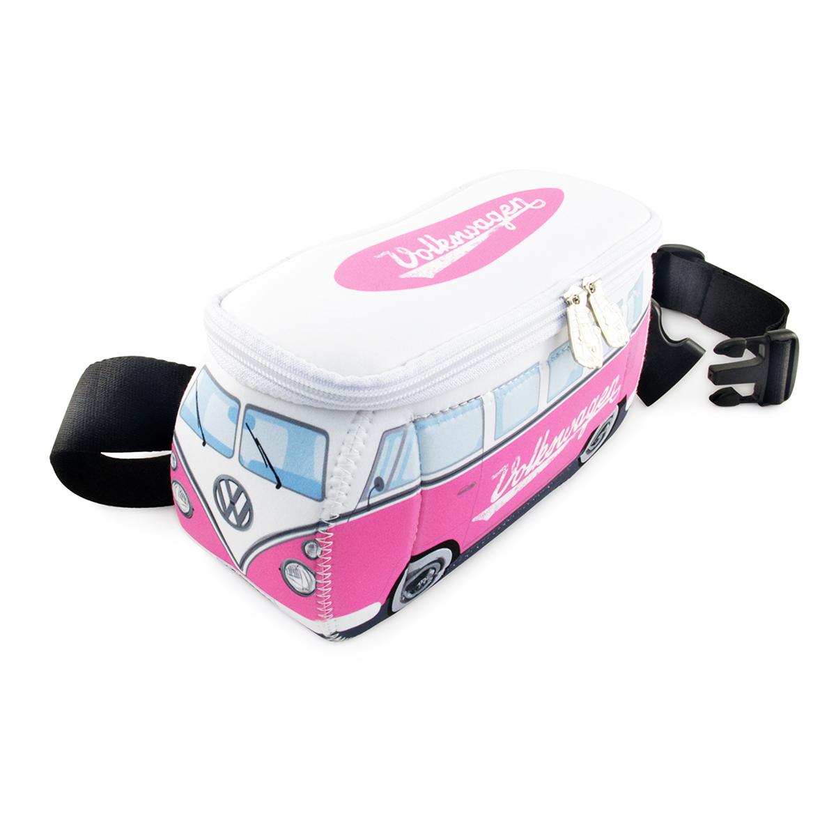 Pochette ceinture \'Volkswagen\' rose blanc - 25x11 cm - [Q1972]