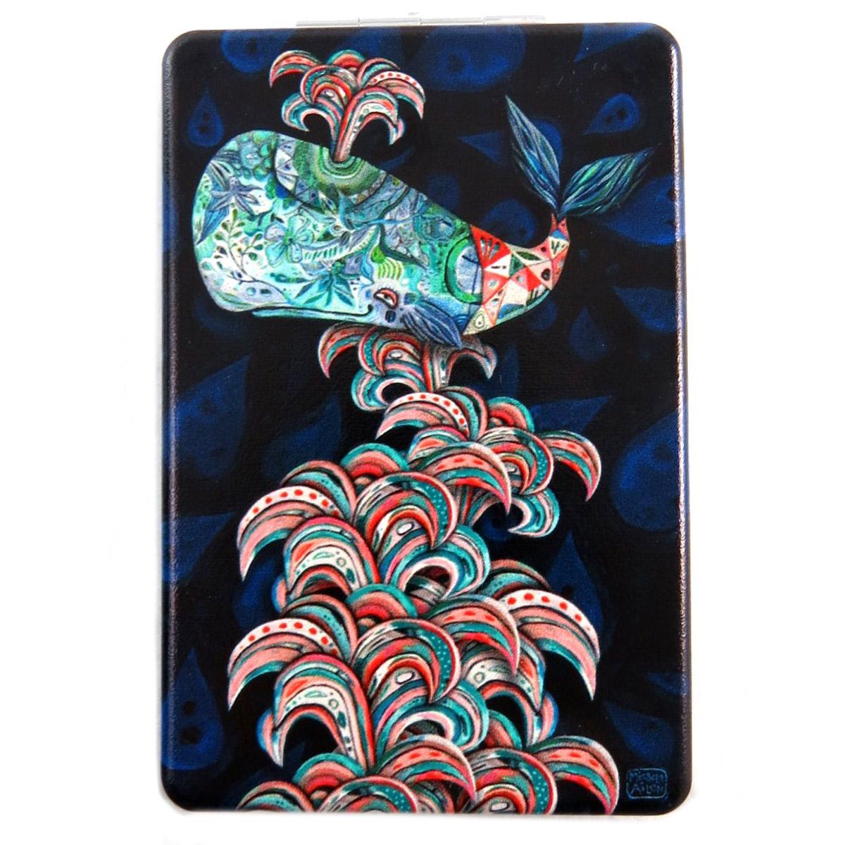 Miroir de poche \'Allen Designs\' noir multicolore (baleine) - 85x55 cm - [Q1975]