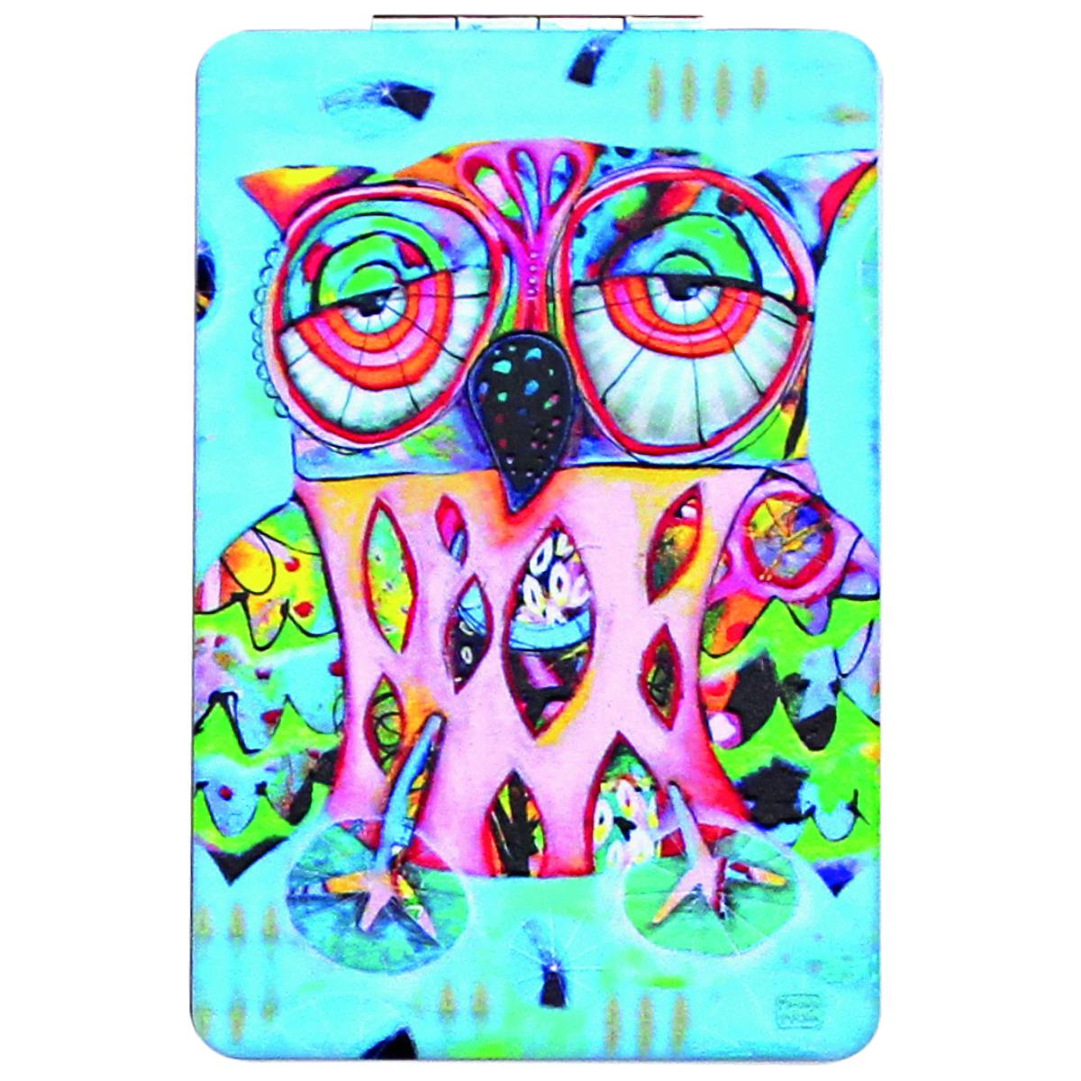 Miroir de poche \'Allen Designs\' bleu multicolore (chouette) - 85x55 cm - [Q1976]