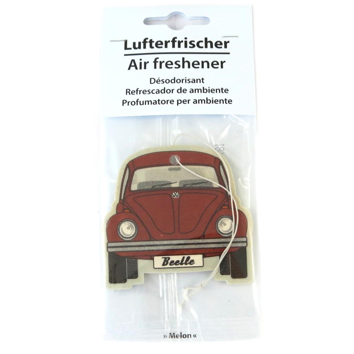 Désodorisant voiture \'Volkswagen\' rouge (melon) - 65x55 mm - [Q1981]