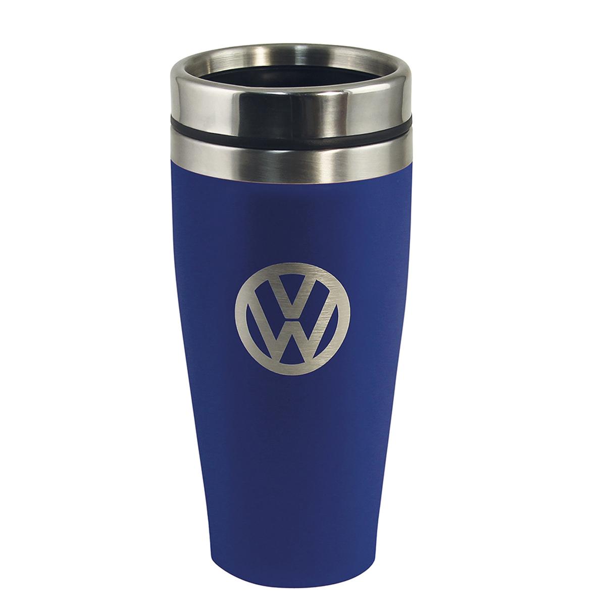 Mug de transport isotherme \'Volkswagen\' bleu gris - 17x7 cm (40 cl) - [Q1989]