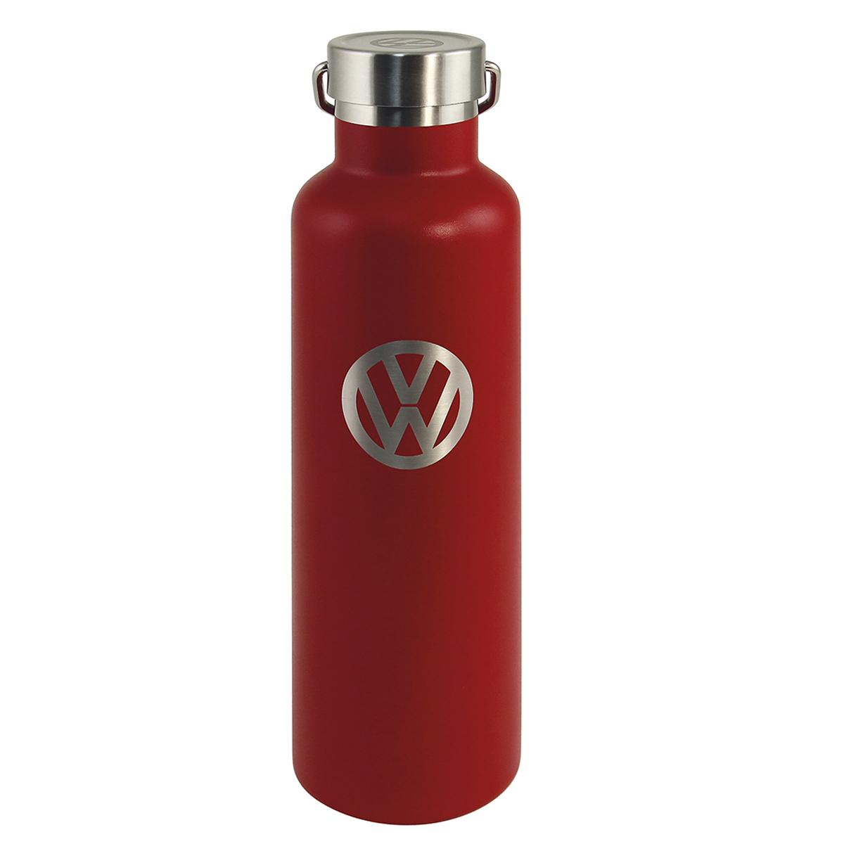 Bouteille isotherme design \'Volkswagen\' rouge gris vintage - 25x7 cm (735 cl) - [Q1990]
