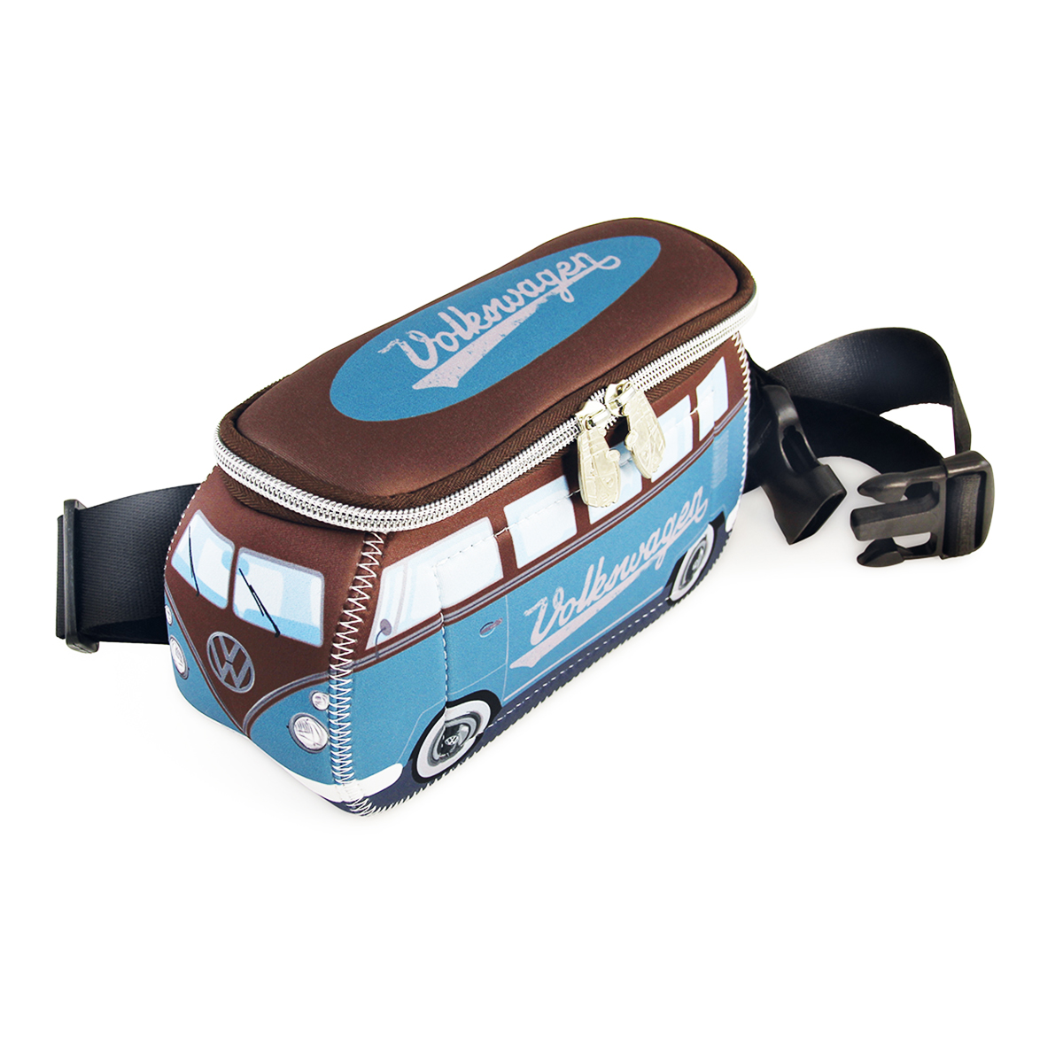 Pochette ceinture \'Volkswagen\' bleu marron - 25x11 cm - [Q1996]