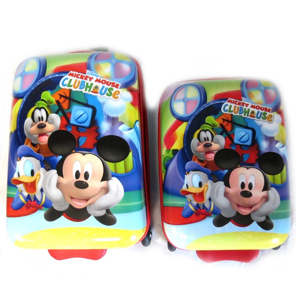 Set 2 valises ABS \'Mickey\' tutti frutti (45/52 cm) - [N2494]