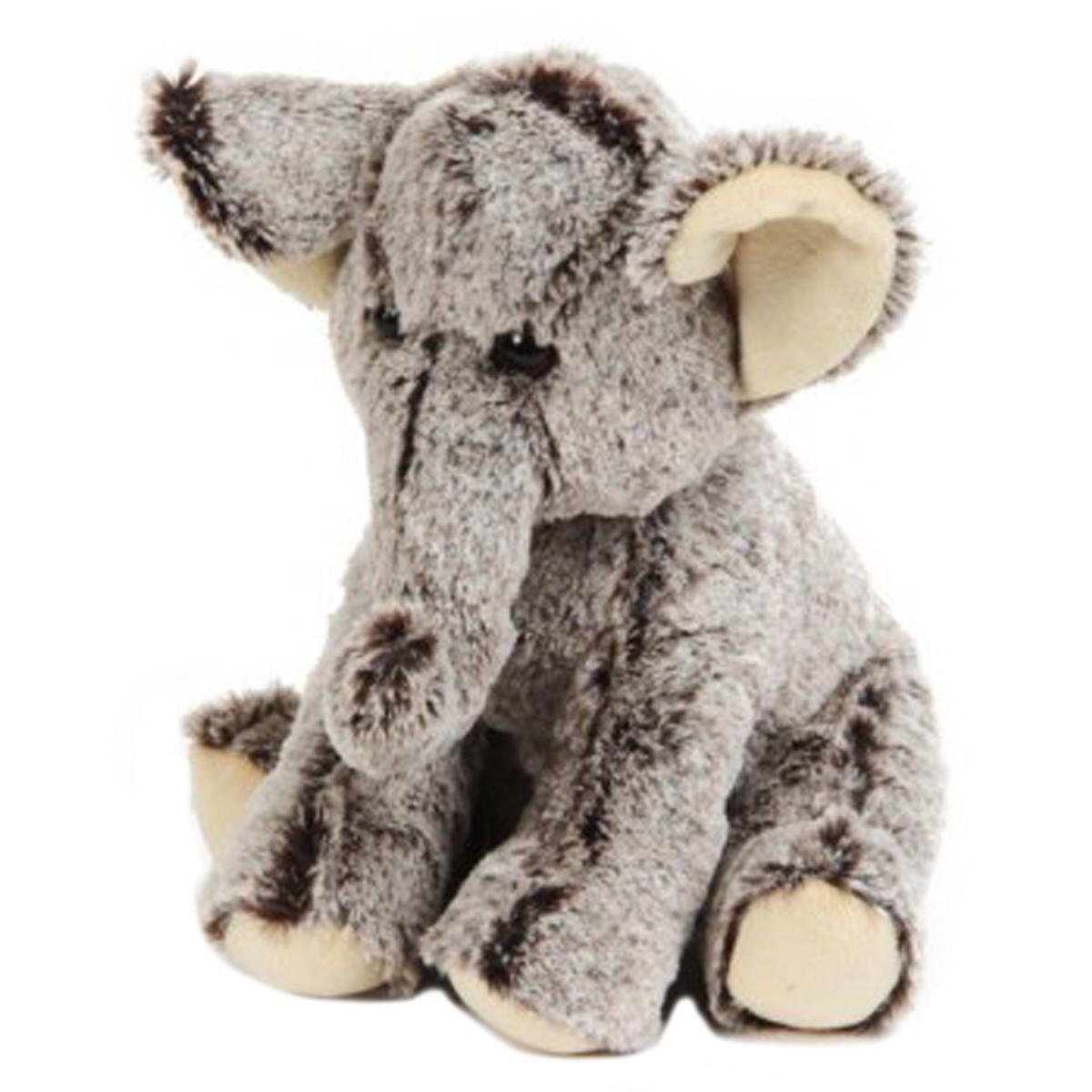Peluche créateur \'Eléphant\' gris - 22x18x18 cm - [Q2028]