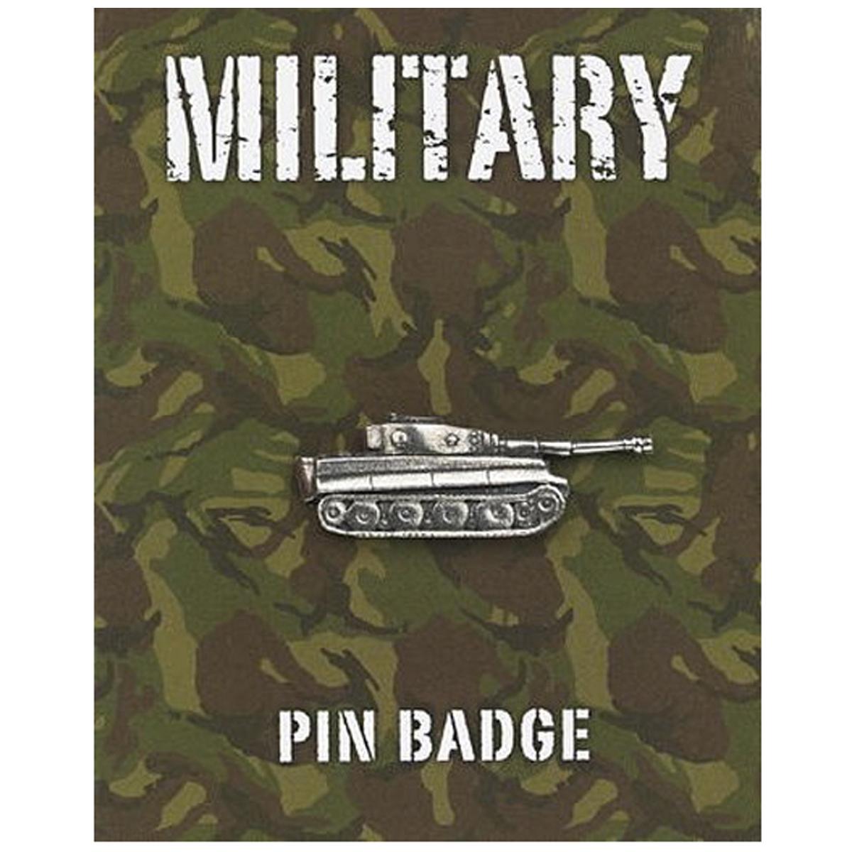 Broche pin\'s \'Military\' argenté (tank panzer) - 35x11 mm - [Q2103]