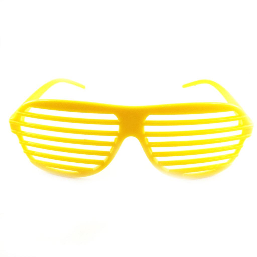 Lunettes humoristiques \'Coloriage\' jaune - [L3128]