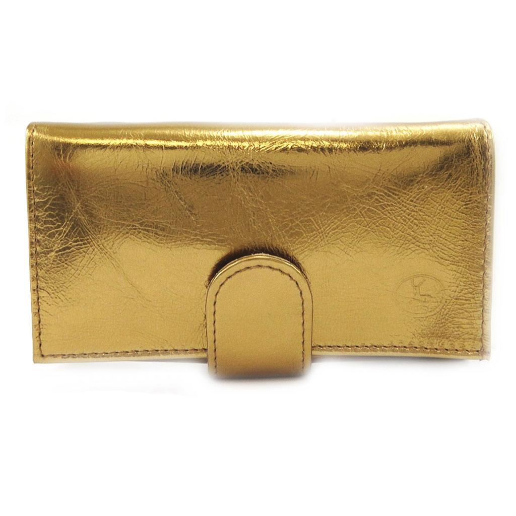 Grand porte-monnaie Cuir \'Frandi\' bronze - [L3356]