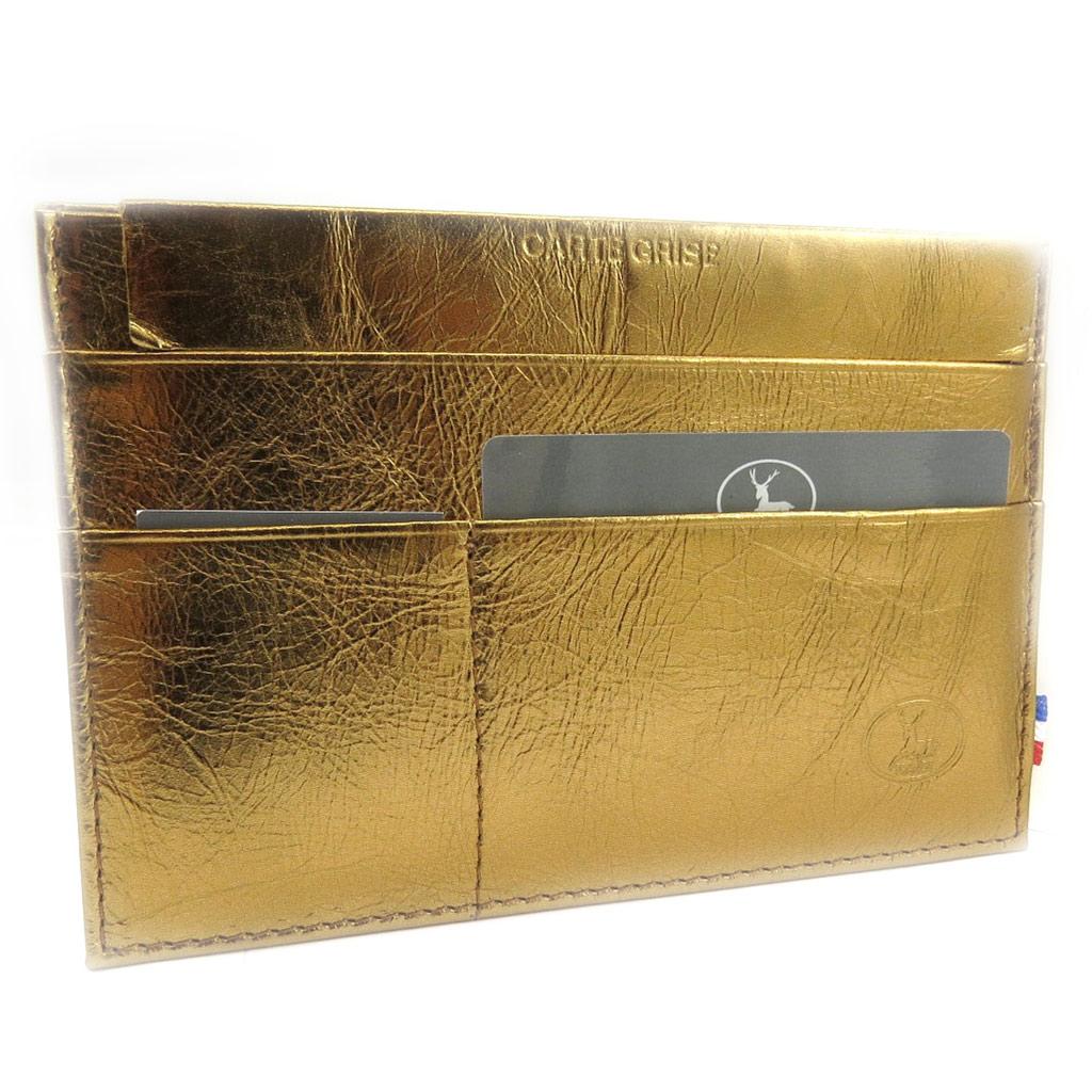 Porte Papiers de voiture Cuir \'Frandi\' bronze (ultra plat) - [L3384]