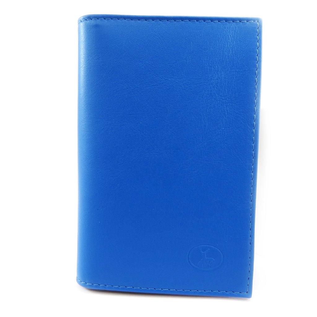 Porte Papiers de voiture Cuir \'Frandi\' bleu (ultra plat) - [L3470]