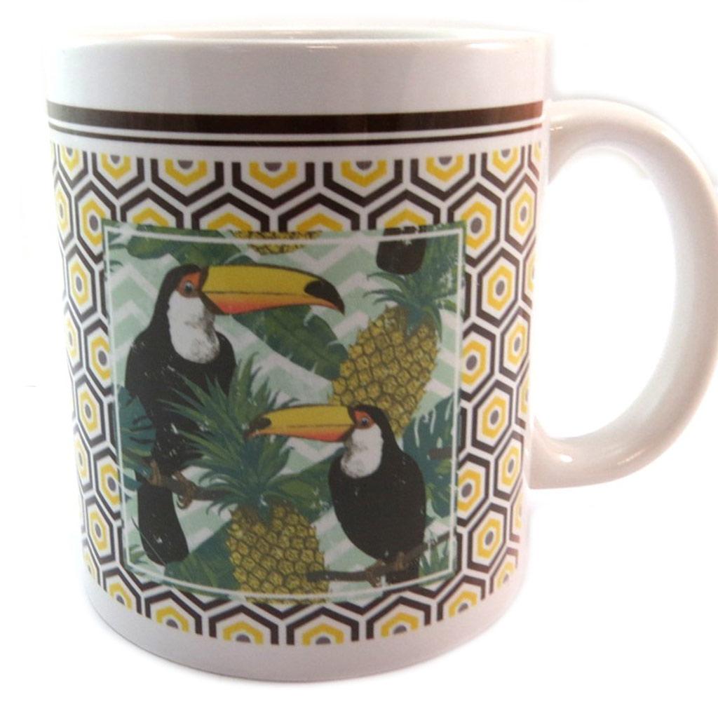 Mug céramique \'Jungle\' (toucans) - [P2675]