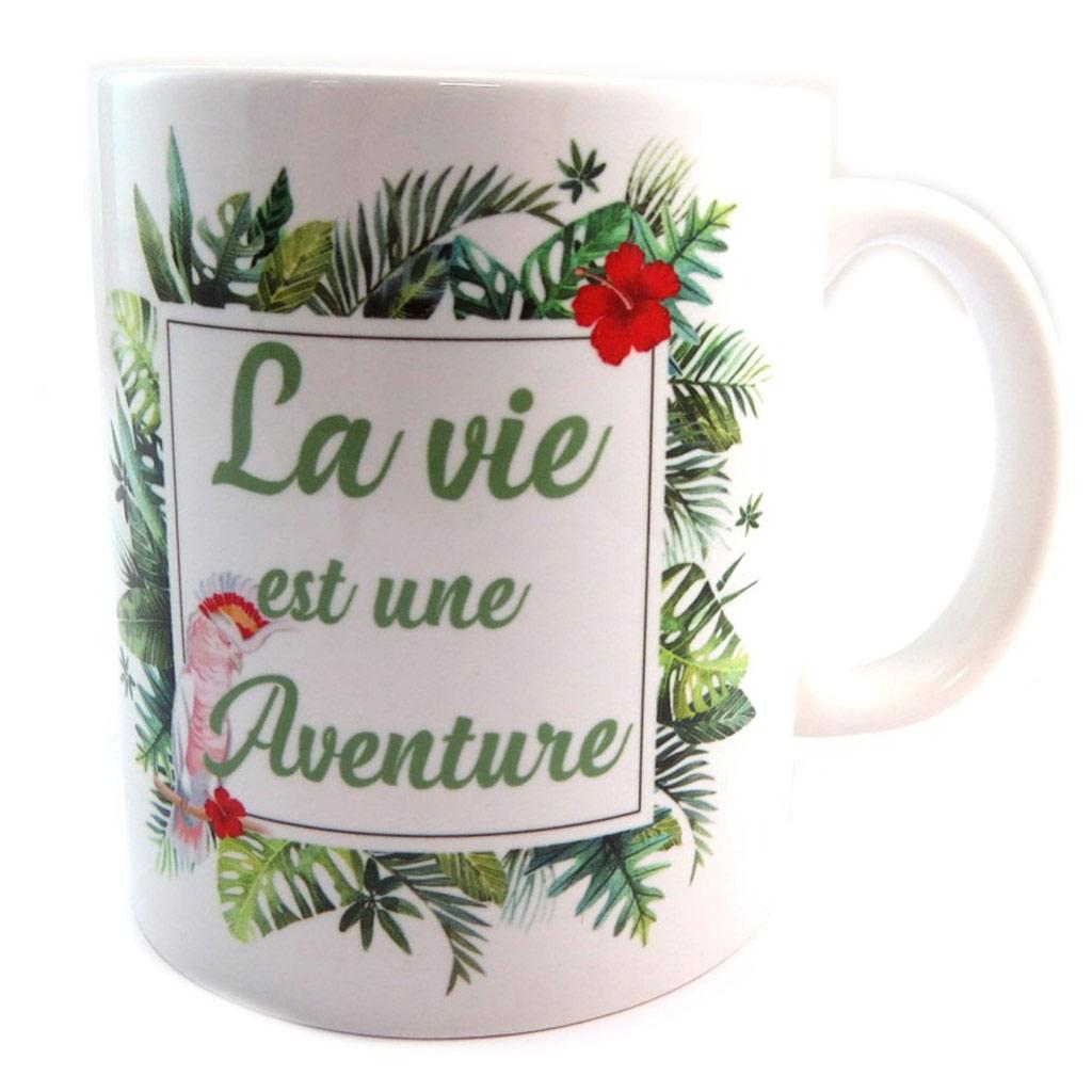 Mug céramique \'Jungle\' (La vie est une Aventure) - [P2677]