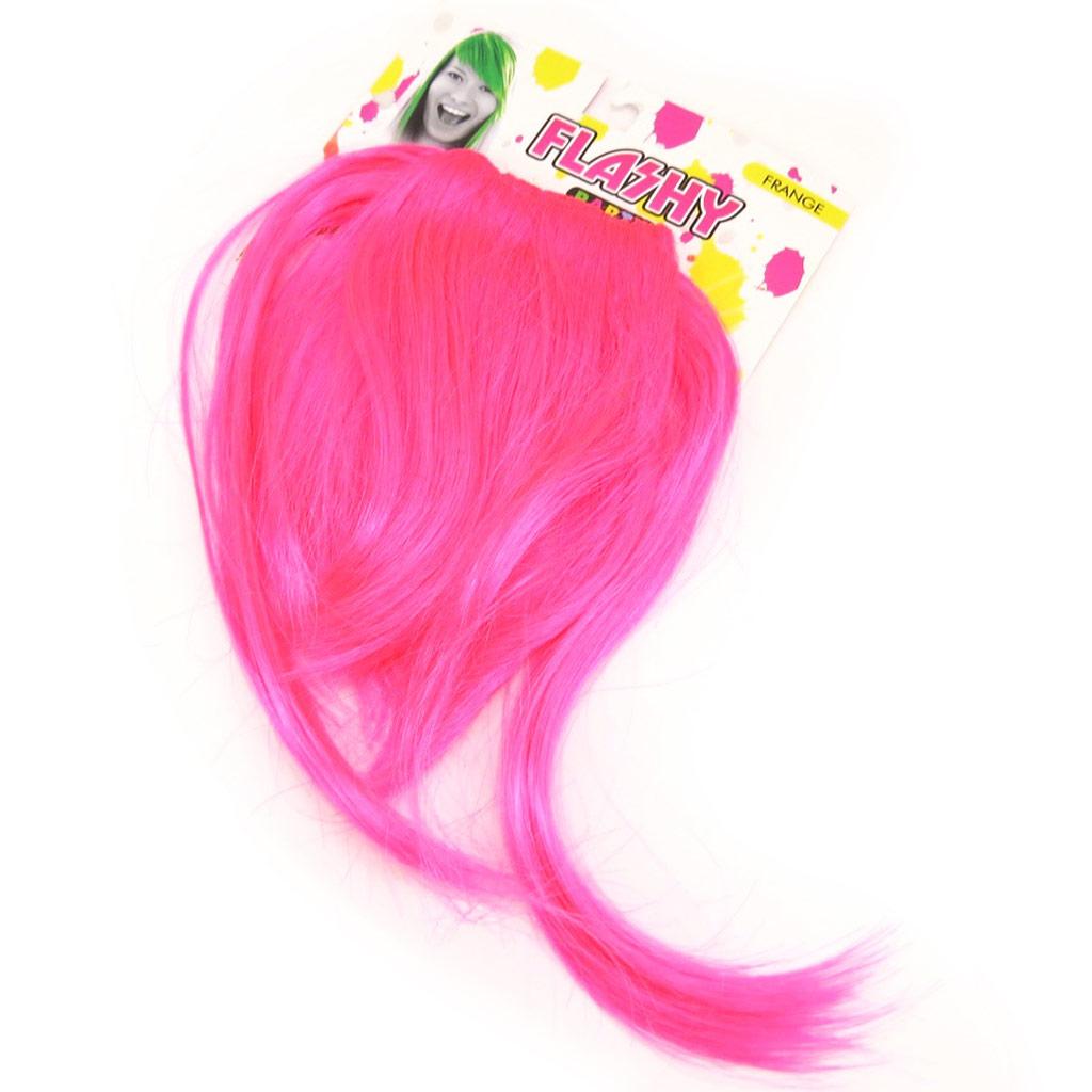 Frange \'Coloriage\' rose (faux cheveux) - [L3997]