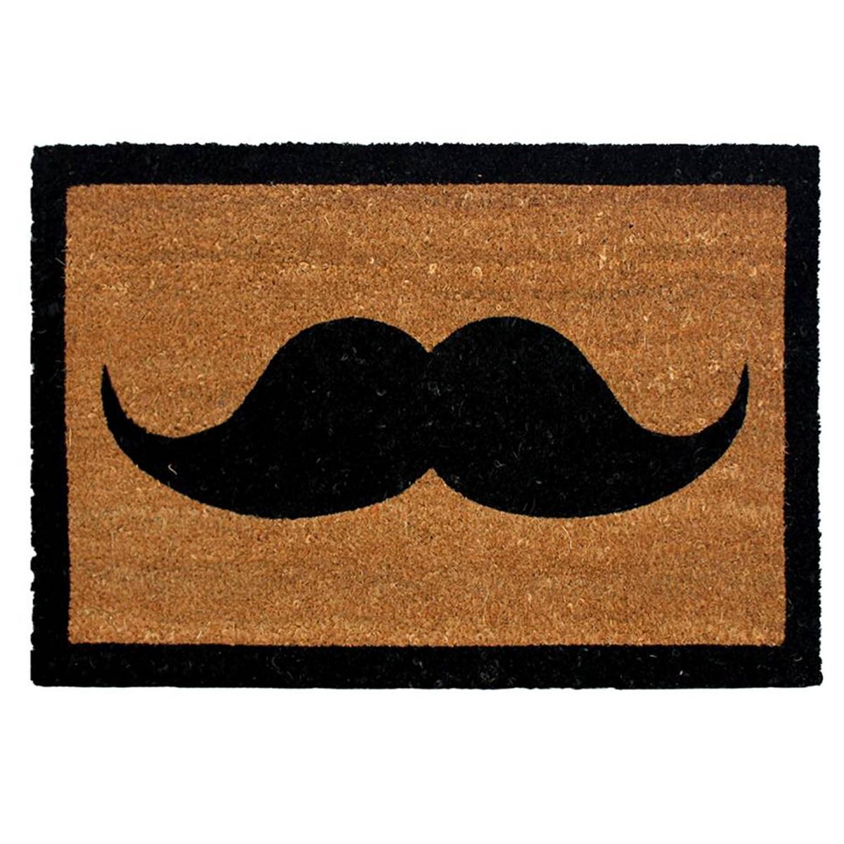 Paillasson \'Moustache\' noir - [L4061]