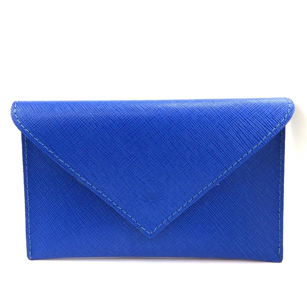 Porte Papiers de voiture Cuir \'Frandi\' bleu (ultra plat) - [L4103]