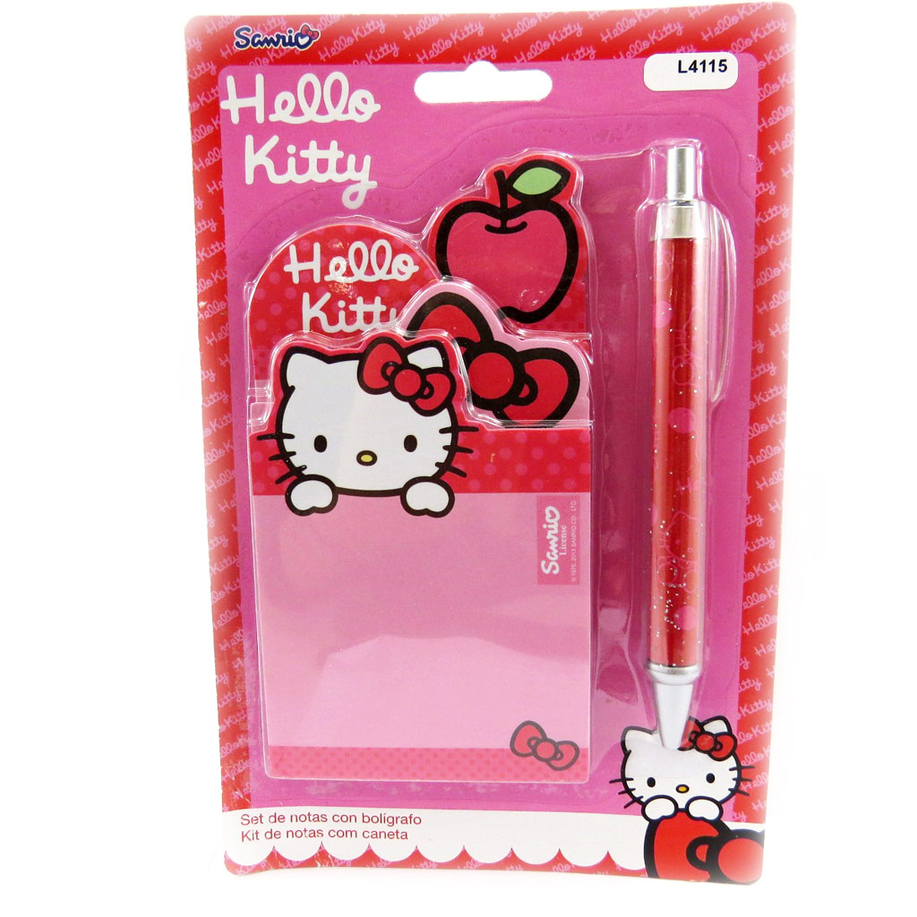 Carnet + stylo \'Hello Kitty\' rose rouge - [L4115]