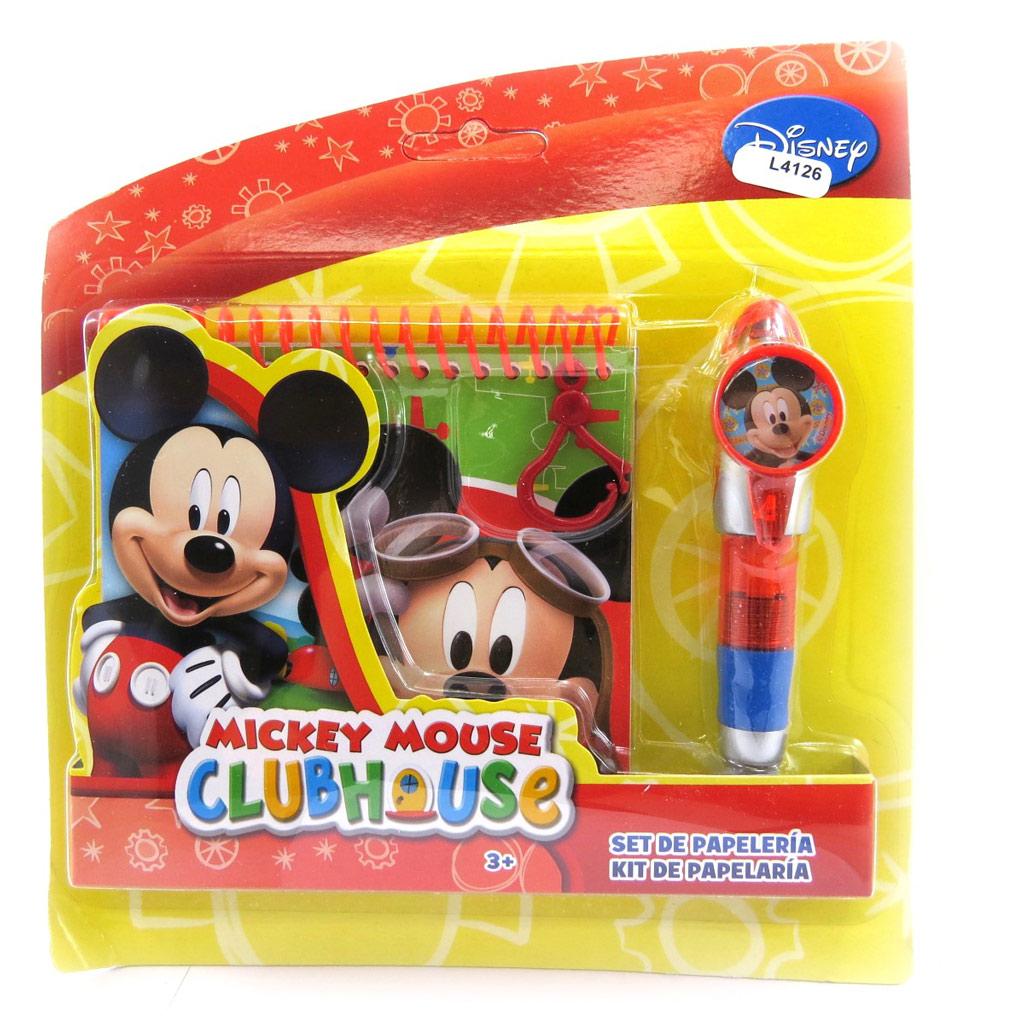 Carnet + stylo \'Mickey\' multicolore - [L4126]