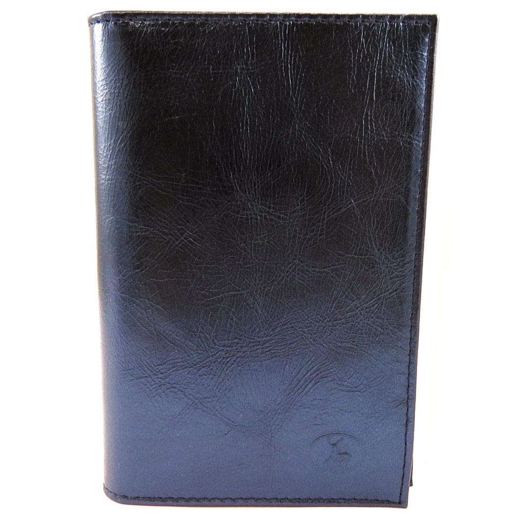 Porte Papiers de voiture Cuir \'Frandi\' bleu (ultra plat) - [L4130]