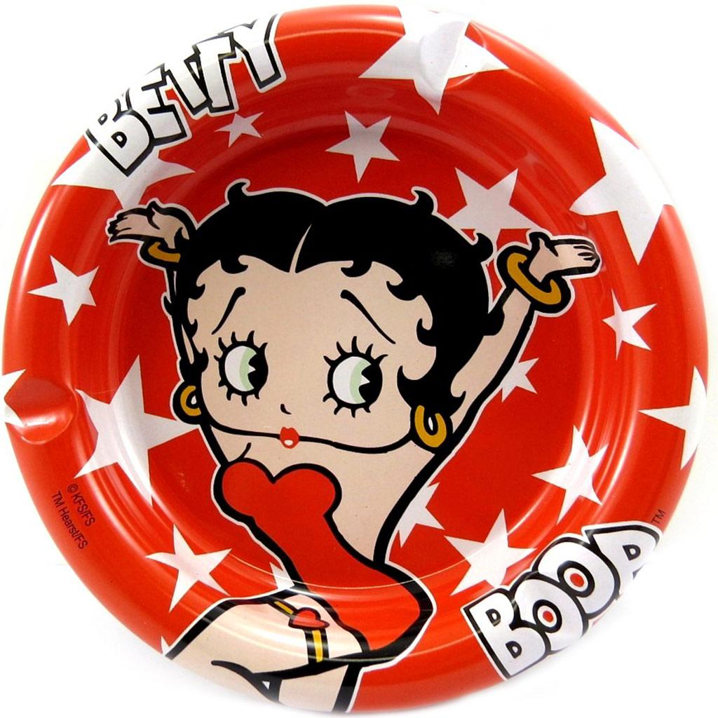 Cendrier métal \'Betty Boop\' rouge - [L4175]