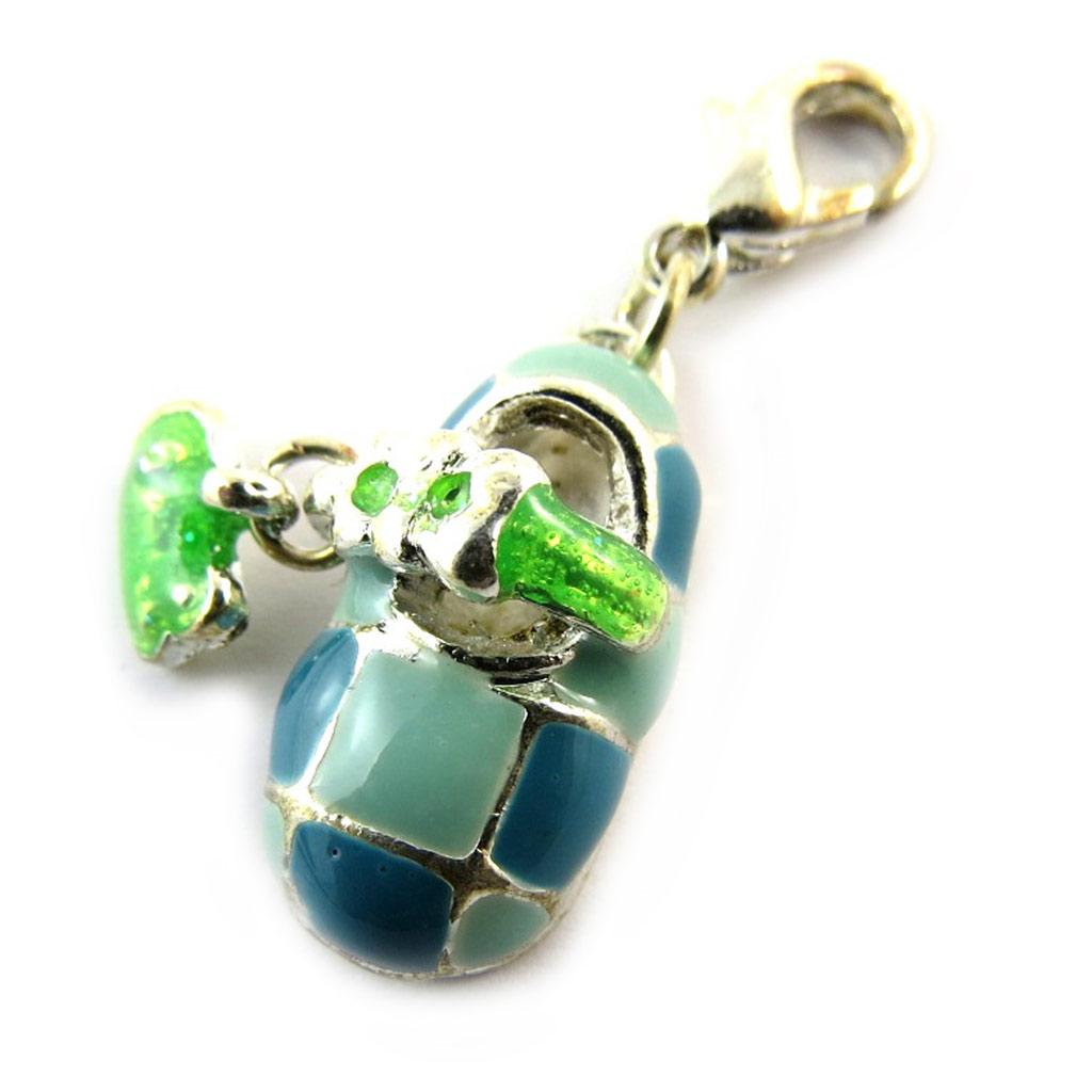 Maille \'Lily Pop\' bleu vert (chaussure) - [N3220]