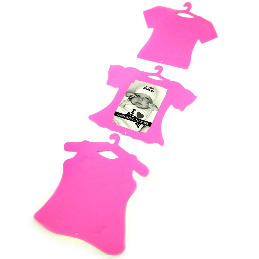 Pêle-mêle \'T-shirt\' rose (3 photos) - [L4193]
