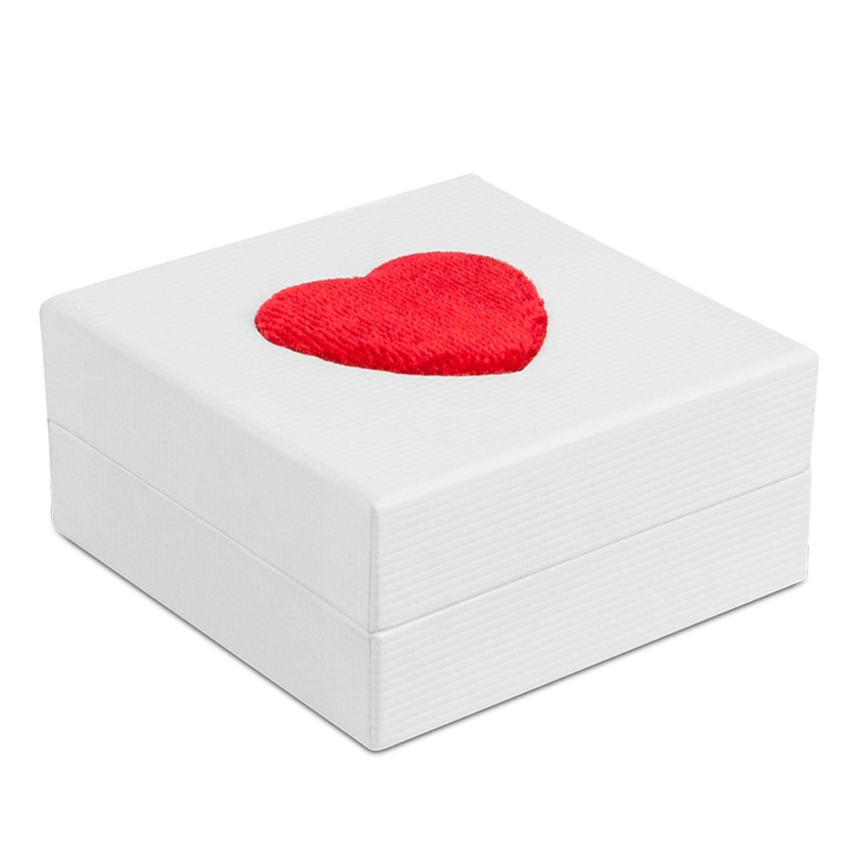 Ecrin Pendentif \'Love\' blanc rouge (7 cm) - [N3654]