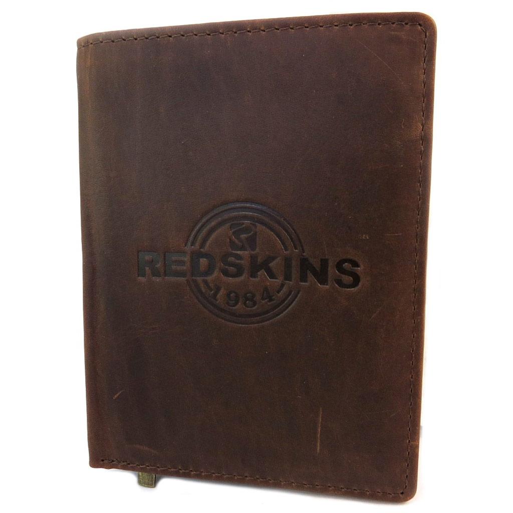 Portefeuille européen cuir \'Redskins\' marron vintage - 135x10x1 cm - [P3403]