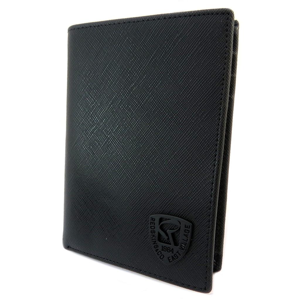Portefeuille européen \'Redskins\' noir - 13x95x2 cm - [P3404]